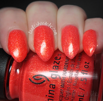 china glaze lite brites collection swatch papa don't peach