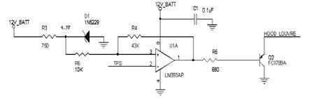 Hood Louver Driver Circuit Diagram using IC LM393