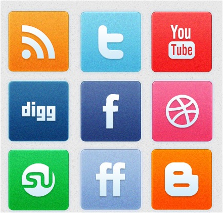 clean noise social icon set