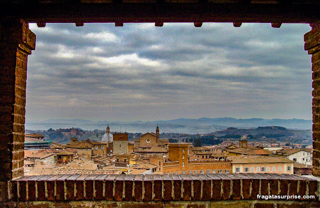 Siena vista do alto do Facciatone da Catedral