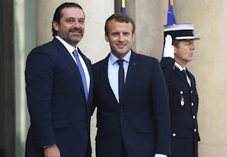 Mr Hariri's press office said he arrived in the French capital this morning.