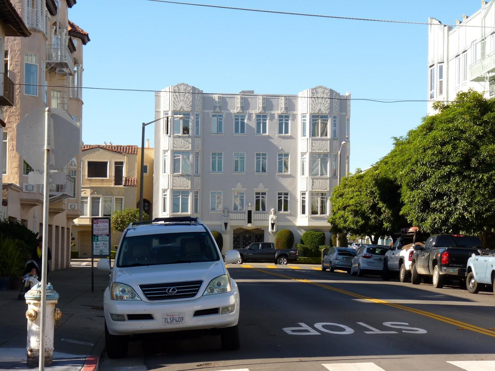 Architecture dans Pacific Heights à San Francisco