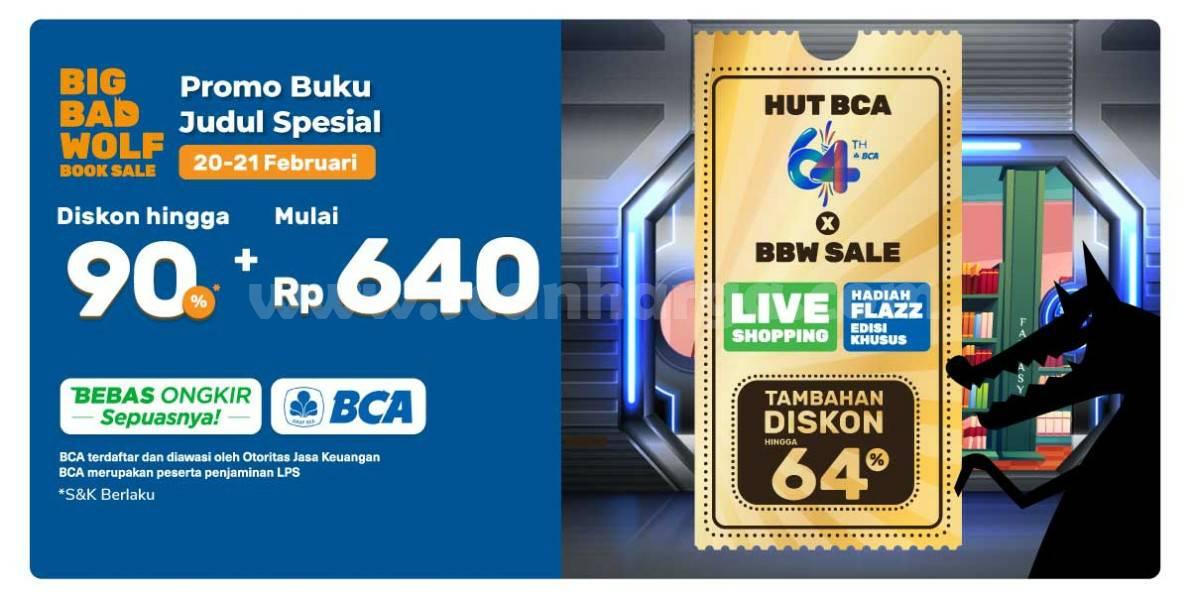 Promo HUT BCA 64 x Big Bad Wolf Online Book Sale
