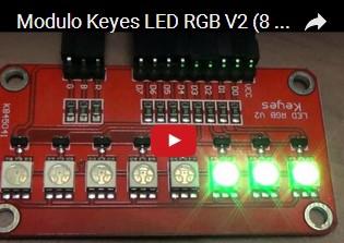 Modulo Keyes LED RGB V2 (8 LED RGB 5050) e Arduino UNO R3