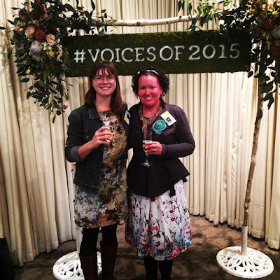 Me with Clare Reilly at Voices blogging event