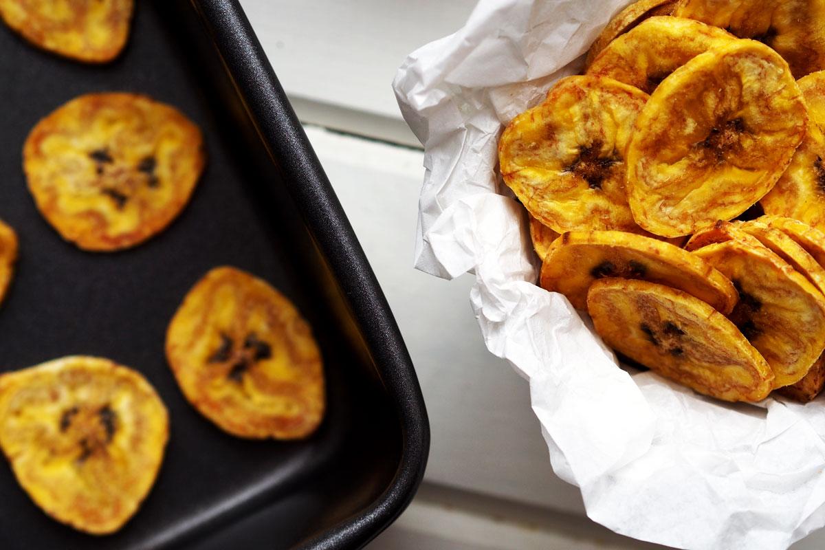 jak zrobić chipsy z plantana?