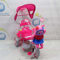 family octopus sepeda roda tiga anak pink