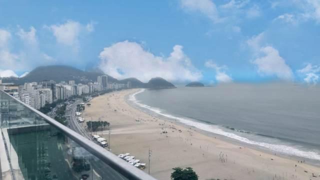 Pestana e sua vista inesquecível da Praia de Copacabana