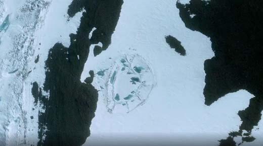 Extraña estructura de forma ovalada en la Antártida podría ser evidencia una antigua civilización