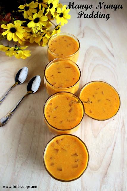 Mango Nungu Pudding