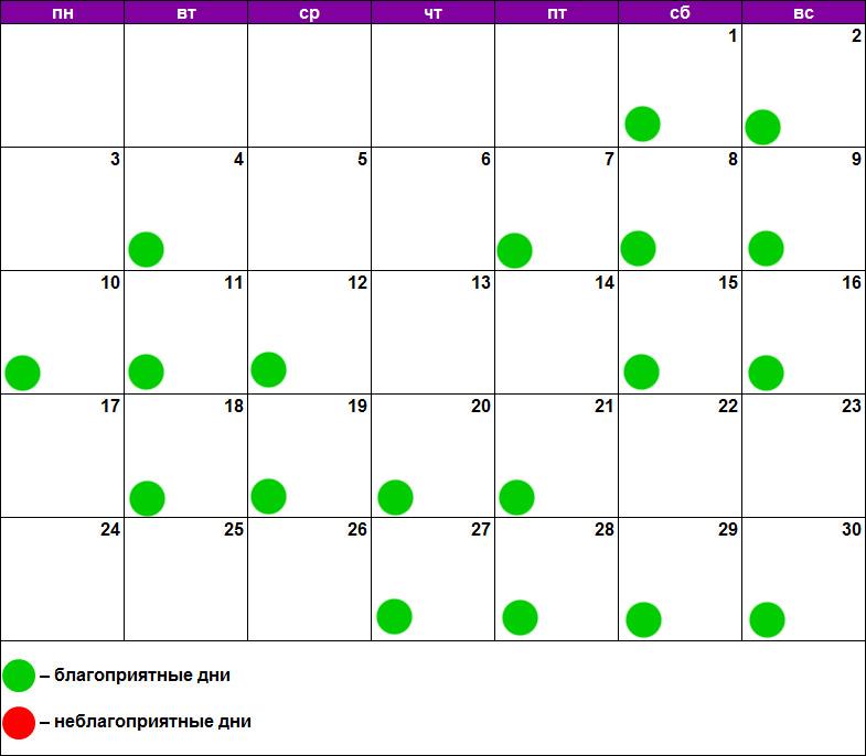 Лунный календарь наращивания июнь 2019