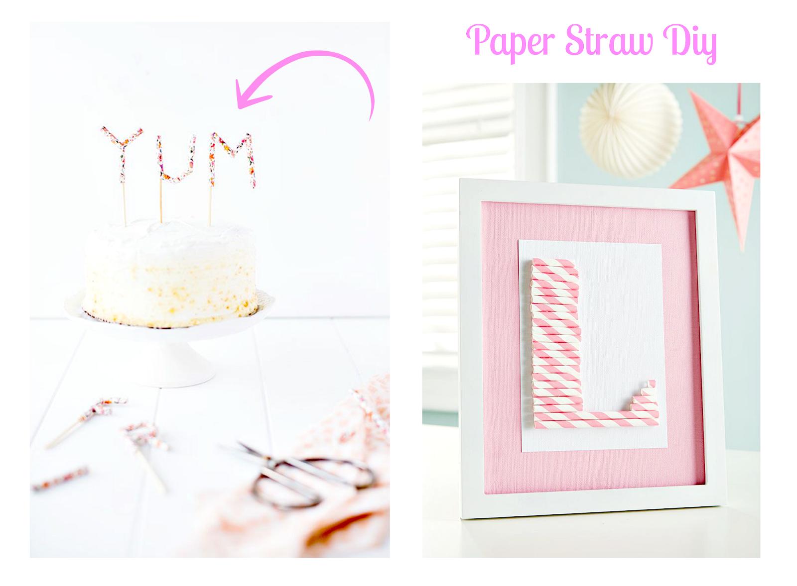 paper straws diy