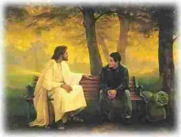 Jesús hablando con un joven