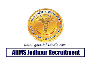 AIIMS Jodhpur Senior Resident Recruitment 2020