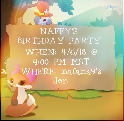 And I Wanted To Have A Little Party On Animal Jam Well Play Some Games Giveaway Here Is The Invitation If You Are Interested In Coming