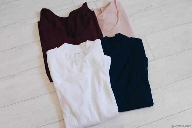 日本人ファッションブロガー、MizuhoK,Newin-一月に買ったもの,UNIQLOヒートテック、ハイネックリブセーター