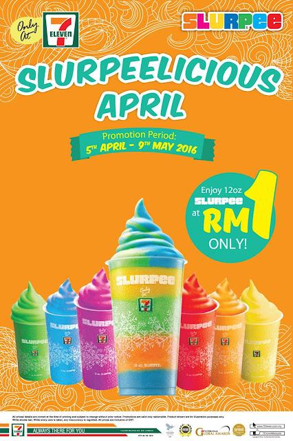 7-Eleven 12oz Slurpee RM1 5 April - 9 May 2016