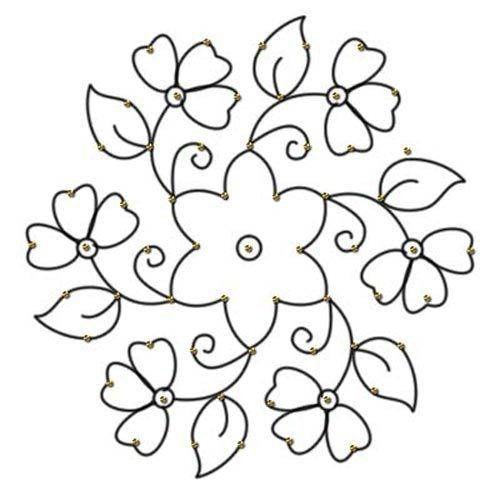 different flower dot rangoli design