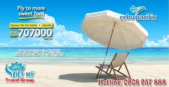Khuyến mãi Valentine Day Cebu Pacific chỉ 30 USD