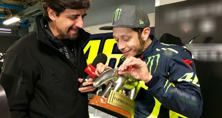 Tapiro d'oro per Valentino Rossi, questa sera a Striscia la notizia su Canale 5.
