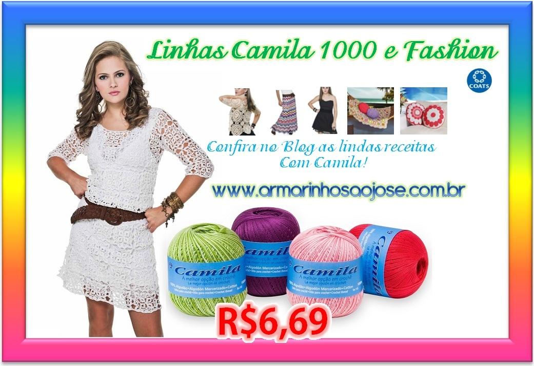 Blusa Crochê com Franjas, Linha Camila Fashion