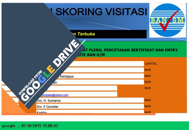 Aplikasi Skoring Visistasi Akreditasi SD 2015 dengan Microsoft Excel - Download.xls