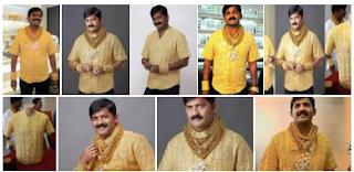 camisa de oro