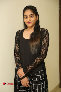 Actress Punarnavi Bhupalam Stills in Black Dress at Pittagoda Press Meet  0014.JPG