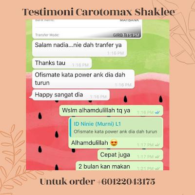 Carotomax Shaklee : Keistimewaan, Kelebihan Dan Testimoni