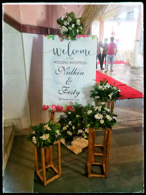 wedding board with floral works