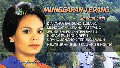Lirik MUNGGARAN TEPANG - Cicih Cangkurileung - Jaipong