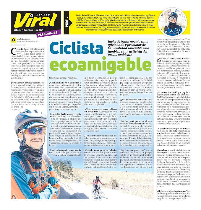 Ciclista ecoamigable