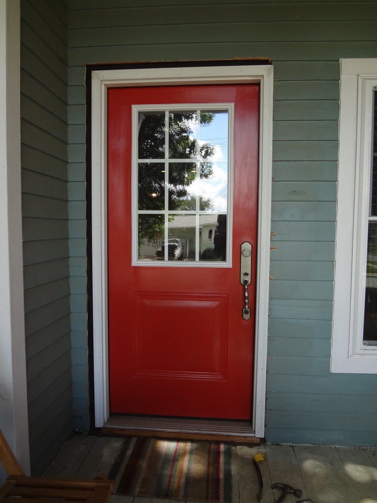 Little Green House On The Corner Front Door