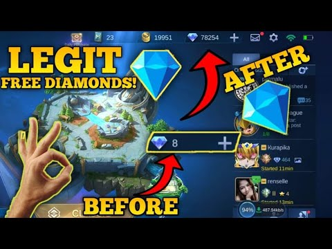 Claim Mobile Legend Unlimited Diamonds For Free! 100% Working [2021]