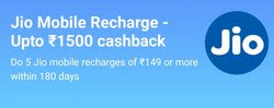 [ Loot] Paytm Offer - Get Upto Rs.1500 Cashback On Jio Mobile Recharge