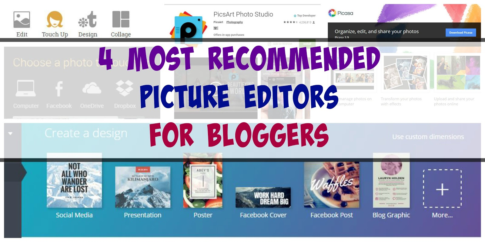 EveryMom'sPage: 4 Most Recommended Picture Editors for Bloggers