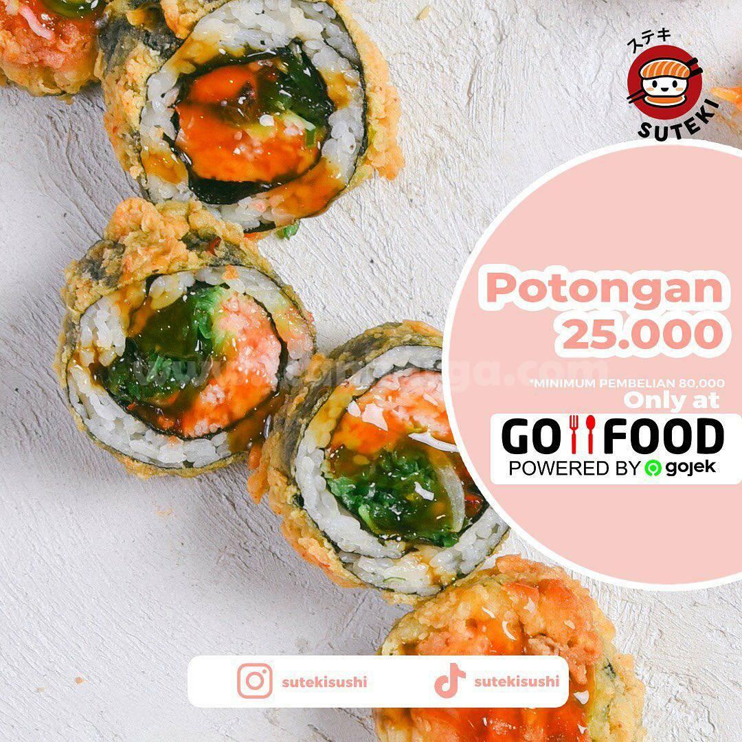 Promo SUTEKI SUSHI Potongan Rp 25.000 Khusus Pemesanan Via GOFOOD