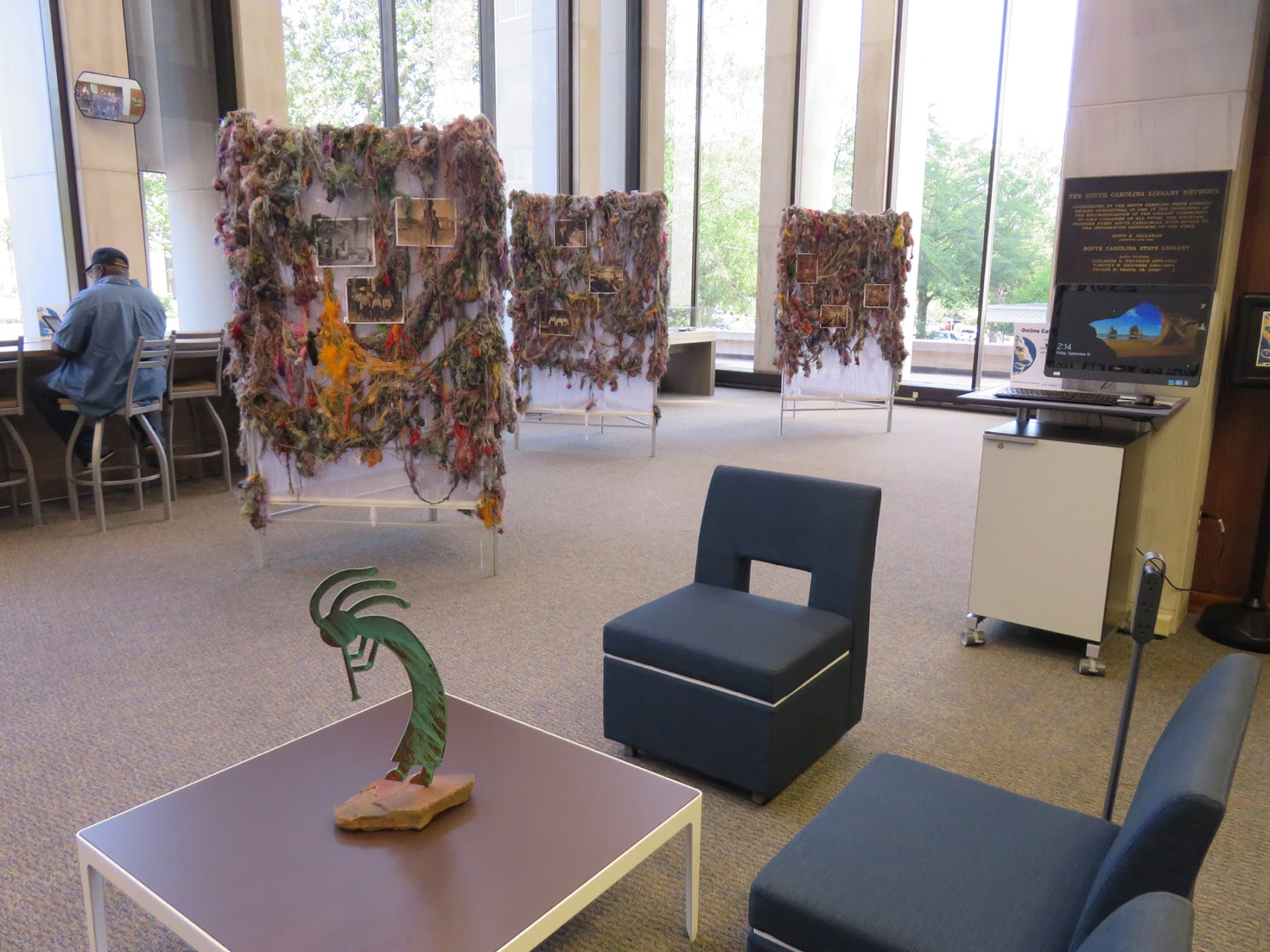 Art In Stitches: Threads at the SC State Library