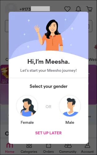 How to use Meesho app