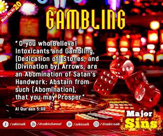 MAJOR SIN. 20. GAMBLING