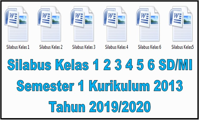 Silabus Kelas 1 2 3 4 5 6 SD/MI Semester 1 Kurikulum 2013 Tahun 2019/2020 - Guru Krebet 3