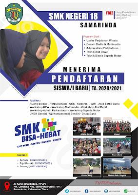 Desain Pamflet Pendaftaran Siswa Baru 2021