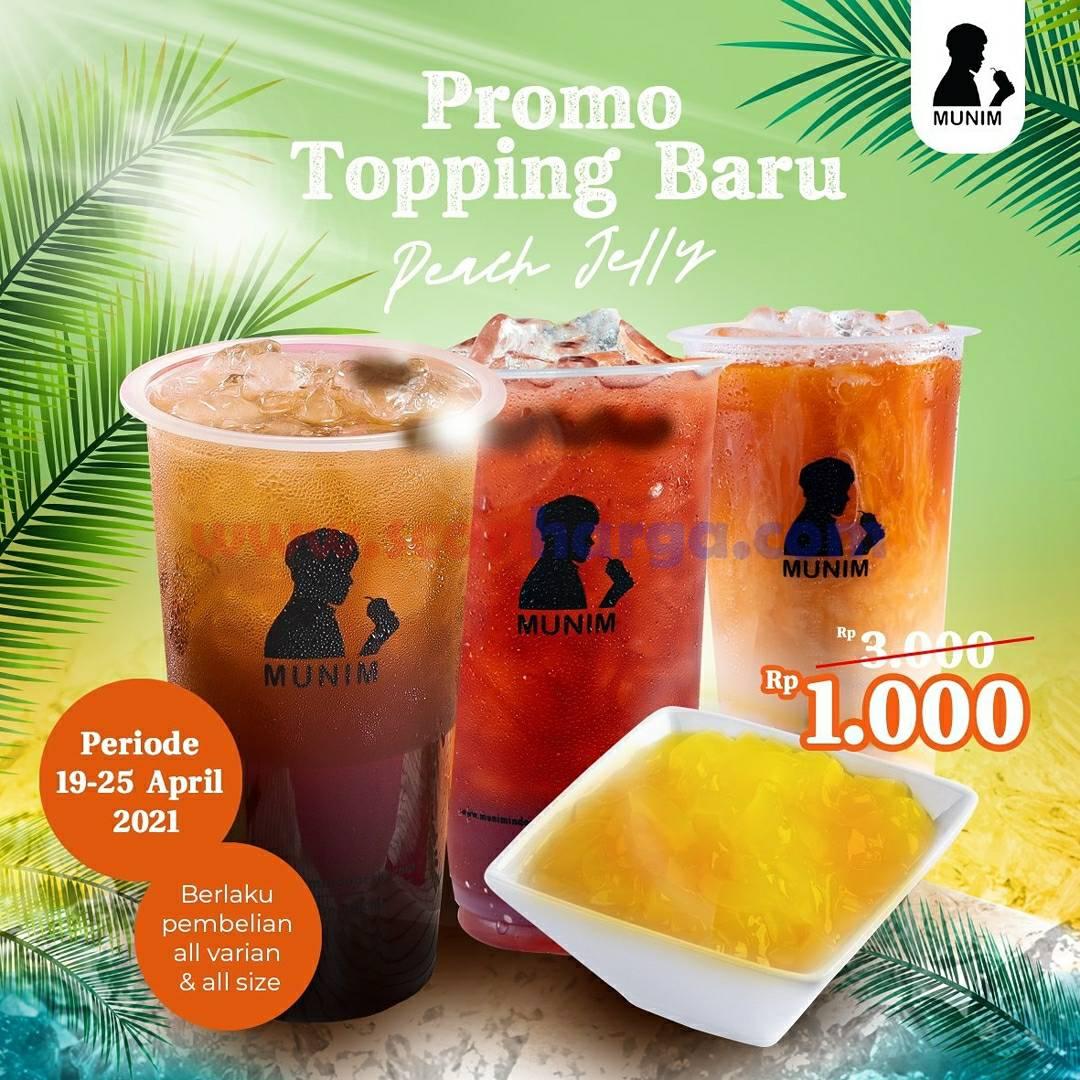 MUNIM Promo Topping Baru Peach Jelly cuma Tambah +Rp 1.000