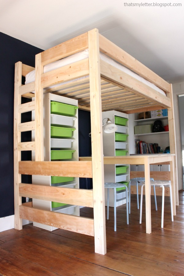 kids bedroom loft bed