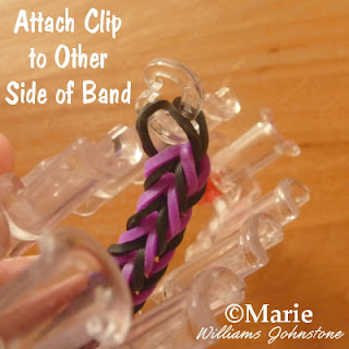 Adding a C clip to one end of the bracelet design