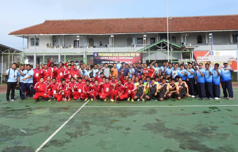 Tingkatkan Pembinaan Kepribadian, Lapas Kelas 1 Tangerang Menyelenggarakan Pertandingan Persahabatan Olahraga dengan Lapas Kelas IIA Serang