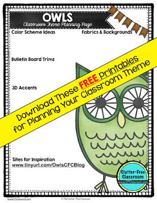 Owls Themed Classroom - Ideas  Printable Classroom Decorations