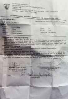 Chapadinha: ex-gestora escolar registra TCO contra Danúbia Carneiro