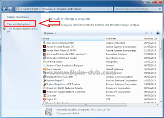 Cara menghapus update windows internet explorer langkah 2