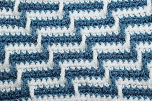 1 -Crochet Imagen Varioación de punto apache por Majovel Crochet